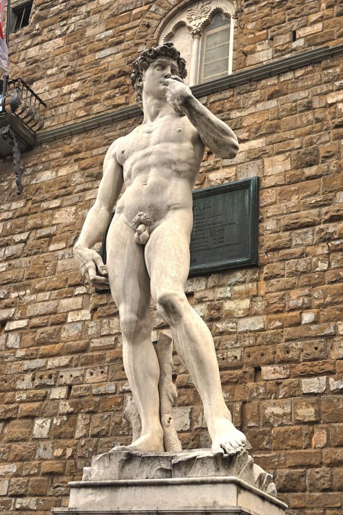 开朗基罗的《大卫》雕像