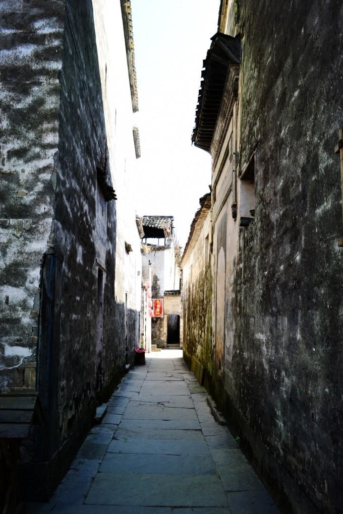 婺源巷子建筑风景图片