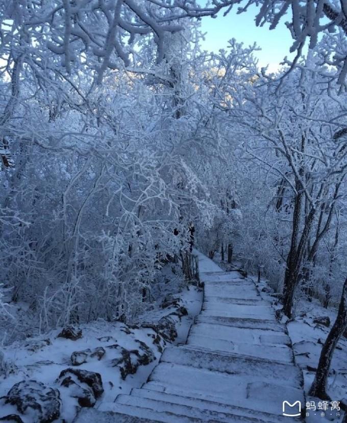 雪后老街风景油画作品
